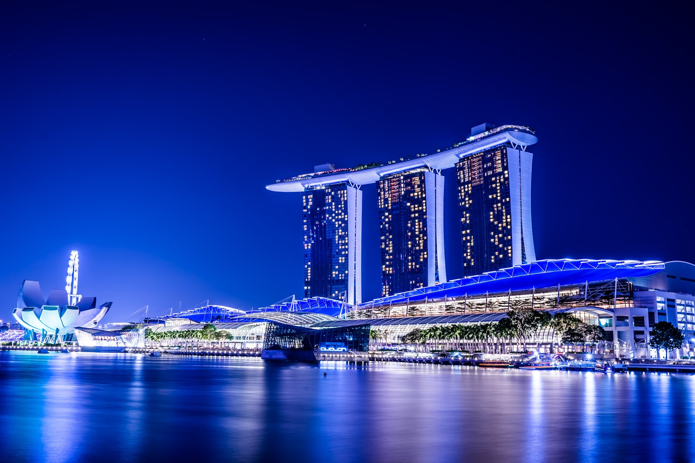 Singapore Marina Bay Sands night view9