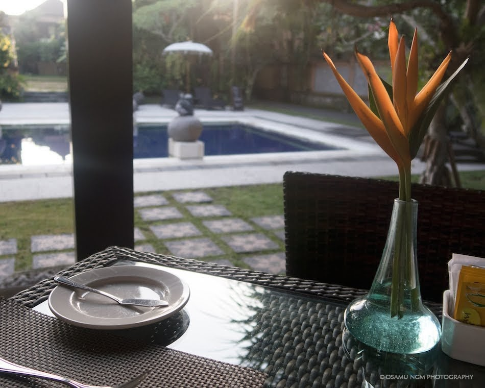 バリ島ホテルの朝食風景