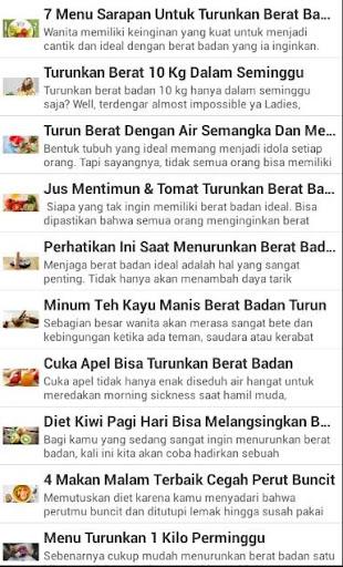 Resep Menu Diet Terbaru 2017 screenshot