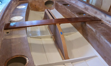 Photo: First coat of paint on the bilge and floors.