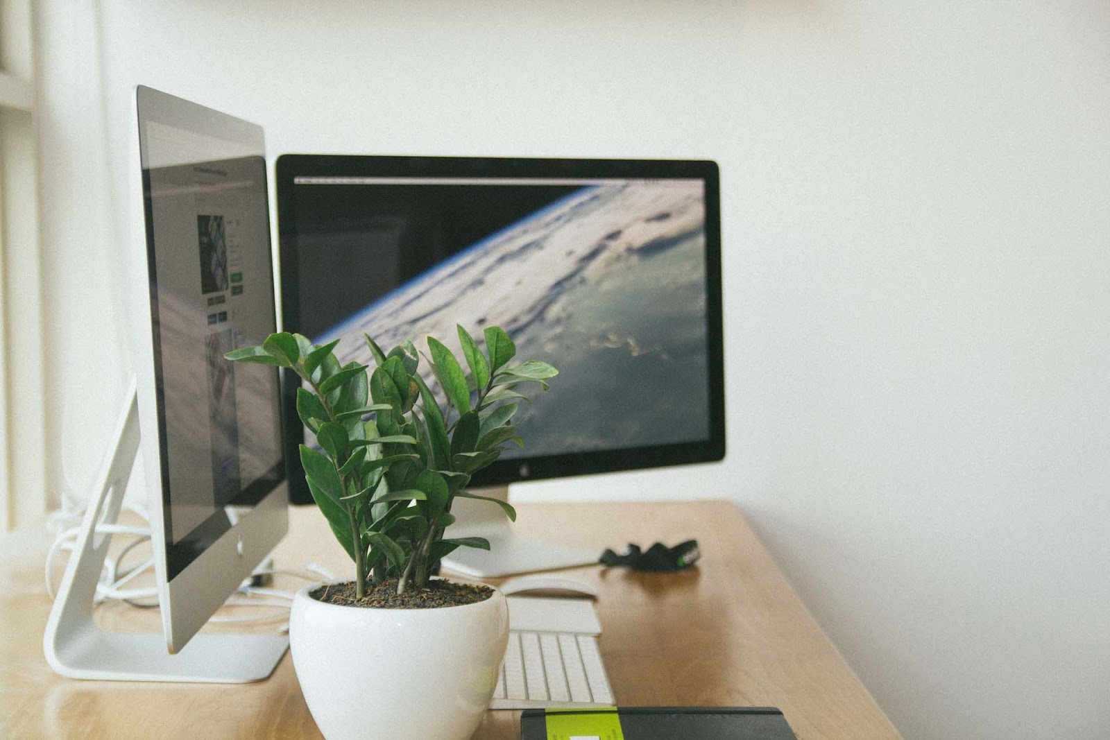 planta em escritório
