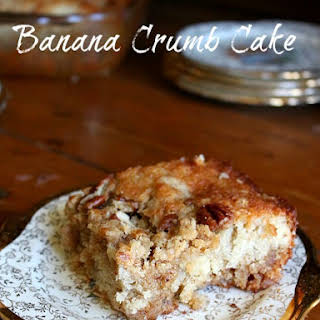 Banana Crumb Cake with Crunchy Topping.