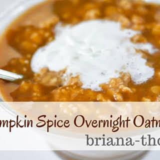 Pumpkin Spice Overnight Oatmeal.