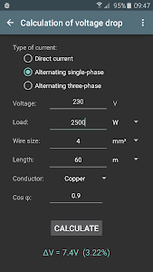 Electrical calculations v5.1.1 (Pro)