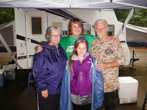 Photo: Family staying dry and having fun in the rain at Wilgus