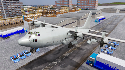 US Police Transporter Plane Simulator screenshot 3