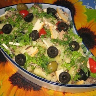 Salad With Sardines And Green Beans