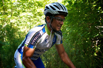Photo: Ronde Ohop is a kermesse style race in the shadow of Mt. Rainer.Can tell he loves hits.