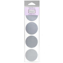Inky Antics Circle Silver Scratch-off Stickers 2inch 16/Pkg UTGÅENDE