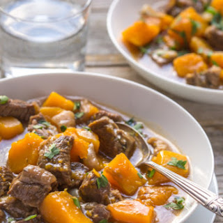 Beef and Butternut Squash Stew.
