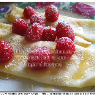 Dessert Crepes (vanilla carrot flavoured)