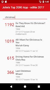 John's Top 2000 App - náhled