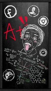 Blackboard Chalk Graffiti Theme - náhled