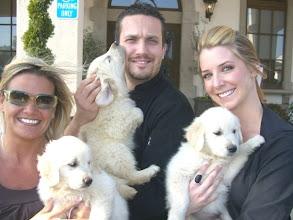 Photo: Our puppies with Top Chef contestant Fabio Viviana