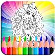 Coloring Book Ever After Hi icon