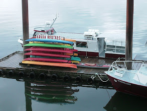 Photo: My kayak on the dock in Prince Rupert.
