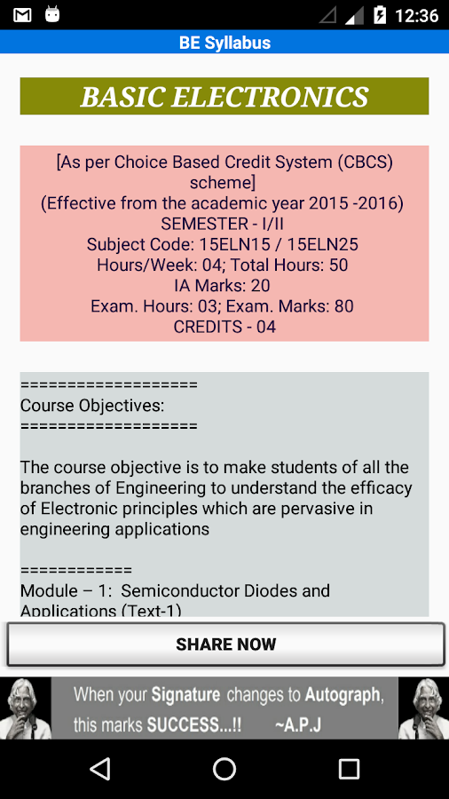 VTU Syllabus- screenshot
