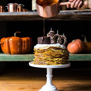 Pumpkin Nutella Crepe Cake.
