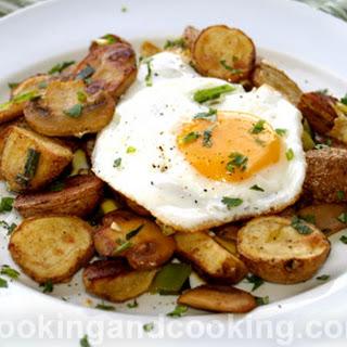 Egg Potato and Mushroom Hash