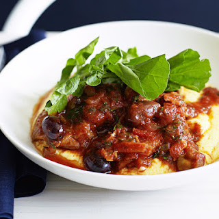Chicken Cacciatore with Polenta.