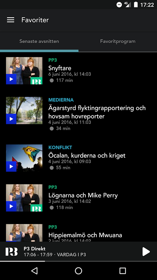 Sveriges Radio Play- screenshot