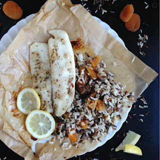 Tilapia with Apricots & Wild Rice
