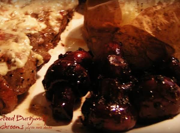 Sauteed Burgundy Mushrooms Recipe