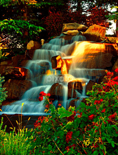ROSE GARDEN WATERFALLS By Gerry Slabaugh   City, Street U0026 Park City Parks (  Rose