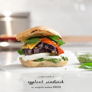 Grilled Eggplant & Pesto Sandwiches