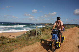 Photo: Year 2 Day 154 -  Rog on the Rail Track out of Kilcunda