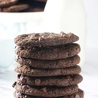 Crispy Double Chocolate Cookies Recipe