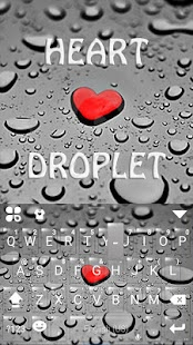 Droplet Love Keyboard Theme - náhled