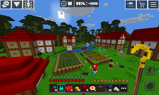 Planet Craft: Block Survival Craft Games Online  captures d'écran 1