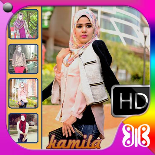 Hijab Jeans Selfie Kamera