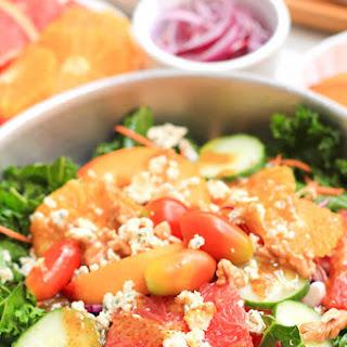 Rainbow Kale Salad with Honey Mustard Dressing