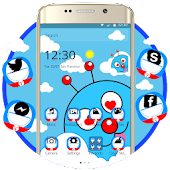 Blue Cute Cartoon Theme