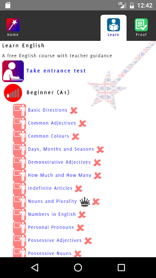 Free English Course- screenshot