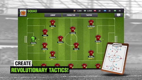 Screenshot 2 Top Eleven 2018 -  Be a Soccer Manager 7.10.2 APK MOD