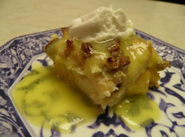 Peach Bread Pudding With Southern Comfort Sauce Recipe