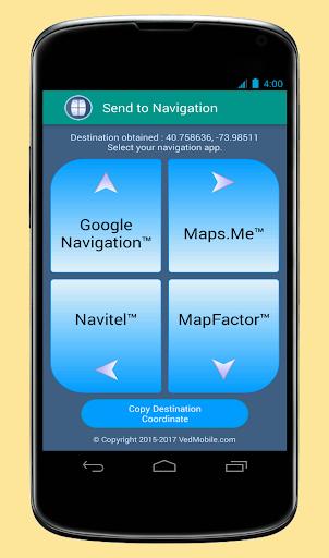 Send to Navigation 2.3.0 screenshots 4
