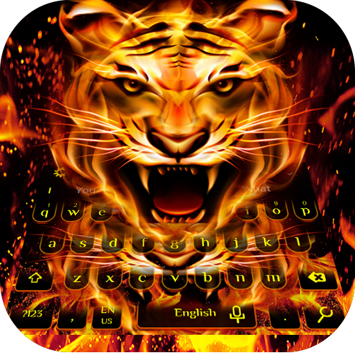 Frie Flaming Tiger Keyboard