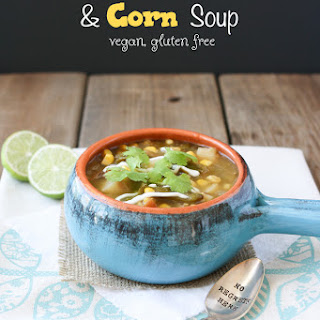 Roasted Poblano & Corn Soup