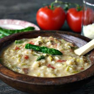 Asparagus Tomato Parmesan Soup Recipe