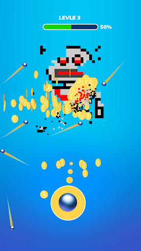 Hit the Pixel - Guns & Briques  captures d'écran 1