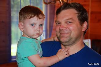 Photo: Зам. самого главного по спорту, RV9WB Андрей с сынуликом