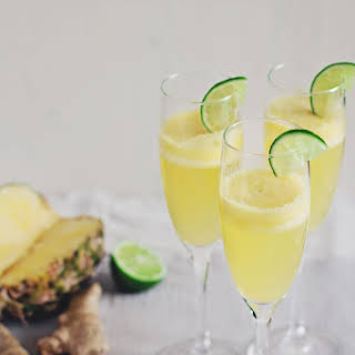 Pineapple-Ginger Champagne Cocktail.