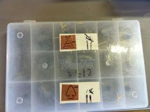 Photo: Leatherwork stamp set Native American symbols