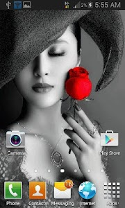 Lady With Rose LWP screenshot 1