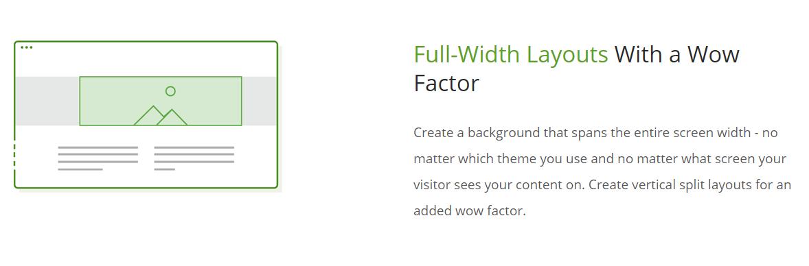 Full-width layouts