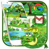 Cute Green Frog Theme Android APK Download Free By Fancy Theme Palace